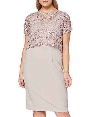 Gina Bacconi Women's Primrose Guipure Top and Crepe Dress