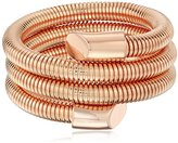 Vince Camuto 3 Row Burnt Rose Gold Metal Coil Bracelet