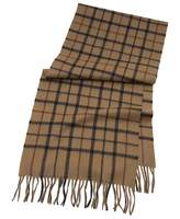 Brooks Brothers Tattersall Camel Hair Scarf