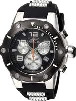 Invicta Men's 'Speedway' Quartz Stainless Steel and Silicone Casual Watch, Color: (Model: 22235)