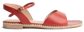 Cara Tomato Annie Sandal - 38 - Red/Brown/Leather