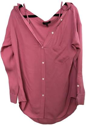 Theory Pink Silk Top for Women
