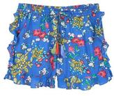 MANGO Ruffle floral shorts