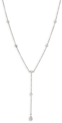 Saks Fifth Avenue 14K White Gold Diamond Y-Necklace