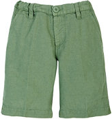 European Culture SLUB-WEAVE SHORTS-GREEN SIZE 4