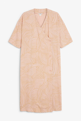 Monki Oversized wrap dress