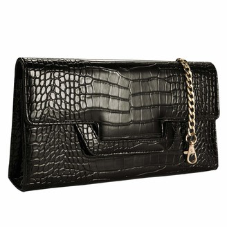 Croco Heaye Animal Skin Clutches Evening Bags Alligator Pattern Crossbody Bag