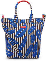 Henri Bendel Striped Canvas Magazine Tote