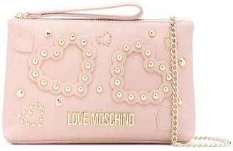 Love Moschino Studded Heart Mini Bag