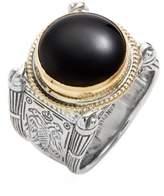 Konstantino Men's 'Minos' Etched Black Onyx Ring