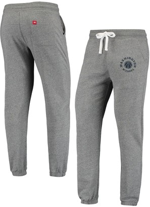 Men's Heathered Gray Washington Wizards Sportiqe Quincy Sweatpants