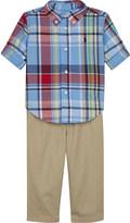 Ralph Lauren Checked cotton shirt & chino set 3-24 months