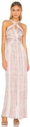 BCBGMAXAZRIA Cross Front Maxi Dress