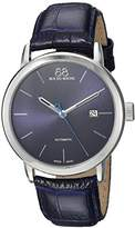 88 Rue du Rhone Men's 'Double 8 Origin' Swiss Automatic Stainless Steel and Leather Dress Watch, Color:Blue (Model: 87WA154210)