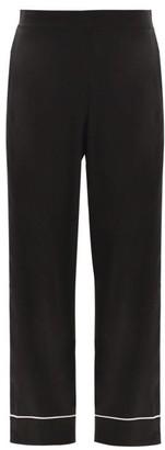 ASCENO London Sandwashed Silk-satin Pyjama Trousers - Black