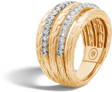John Hardy Classic Chain Five Rows with Diamonds