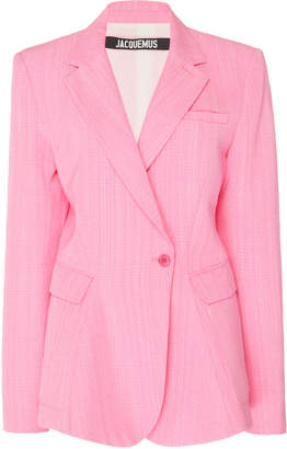 Jacquemus La Veste Qui Vole Tailored Silk-Blend Blazer