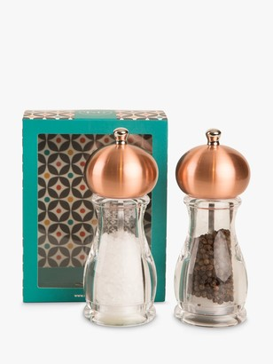 T&G Copper Globe Salt and Pepper Mill Set