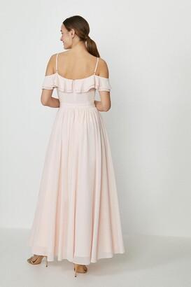 Coast Cold Shoulder Ruffle Maxi Dress