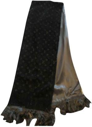 Louis Vuitton Black Velvet Scarves