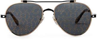 Givenchy GV7057/S S Black Flash Star Aviator Sunglasses