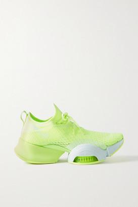 Nike Air Zoom Superrep Neoprene And Mesh Sneakers - Chartreuse