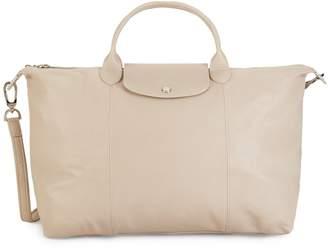 Longchamp Logo Leather Shoulder Bag