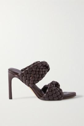 Bottega Veneta Intrecciato Quilted Leather Mules - Brown