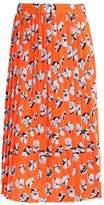 Warehouse Pleated skirt orange