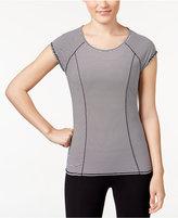 Calvin Klein Striped Cutout Back T-Shirt