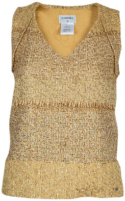 Chanel Metallic Gold Sleeveless Top S