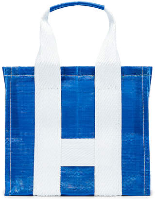Comme des Garcons Large Tote Bag in Blue & White | FWRD