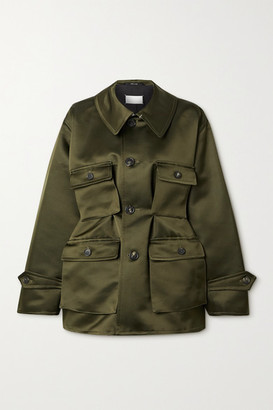Maison Margiela Duchesse Silk-satin Jacket - Army green