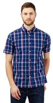 Maine New England Navy Checked Print Shirt