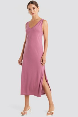 NA-KD Sleeveless Jersey Midi Dress
