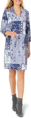Foxcroft Esme Mixed Print Jersey Shift Dress