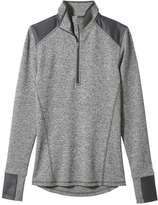 Joe Fresh Women's Quarter-Zip Active Popover, Silver (Size XL)