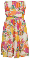 Sunshine Floral Strapless Dress
