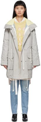 Army by Yves Salomon Yves Salomon - Army Reversible Grey Padded Parka