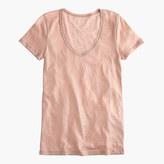J.Crew Vintage cotton scoopneck T-shirt in metallic