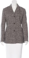 Bottega Veneta Wool & Angora-Blend Tweed Blazer