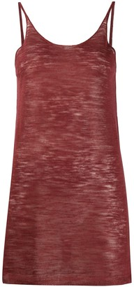 Alysi Semi-Sheer Scoop Neck Vest Top