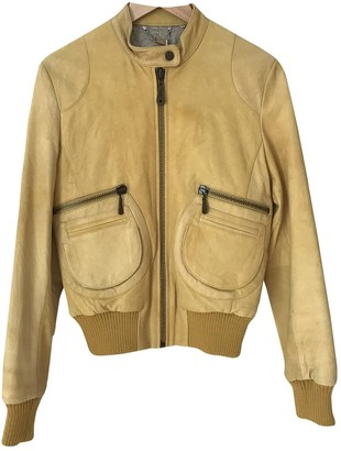 Doma Yellow Leather Jacket for Women