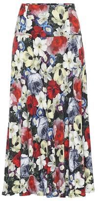 Erdem Elvin floral jersey midi skirt