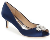 Badgley Mischka Women's 'Nakita' Kitten Heel Peep Toe Pump