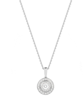Jenny Packham 18ct White Gold 0.35 Carat Total Weight Brilliant Cut Double Halo Diamond Necklace