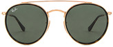 Ray-Ban Round Double Bridge in Metallic Gold.