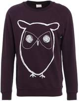 Knowledge Cotton Apparel Big Owl Sweatshirt Plum Perfect