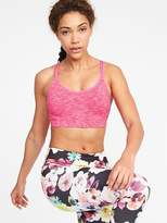 Old Navy Seamless Light Support Strappy Sports Bra for Women