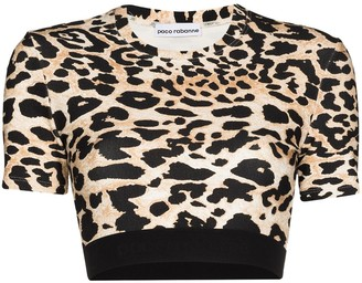 Paco Rabanne Leopard Print Cropped Top